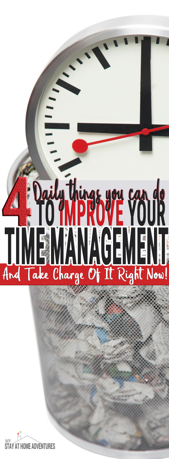 As a stay at home mom I am failing at my time management. What I thought worked when I worked is not. Here are tips to help improve your time management today.
