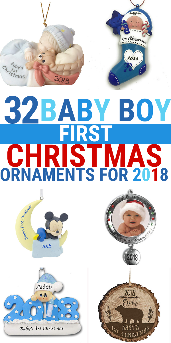 Looking for a baby boy first Christmas ornament 2018? Check out this Baby Boy First Christmas Ornament guide and find the latest baby Christmas ornaments.