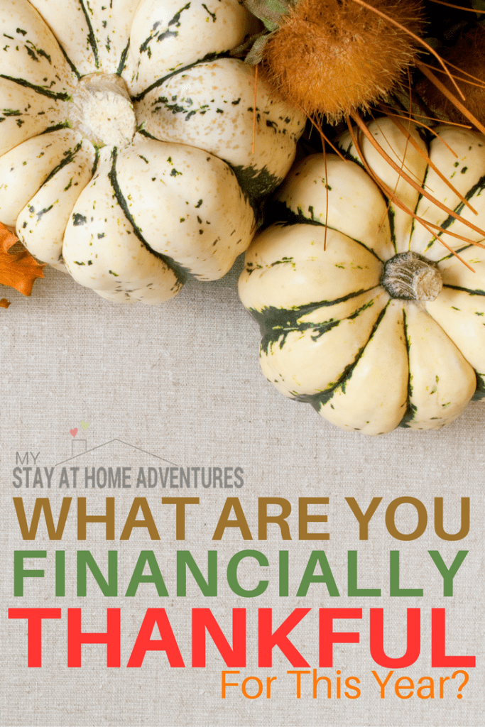 It is time for our yearly tradition and ask what are you financially thankful for this year, 2016. Read what we and our friends are financially thankful.