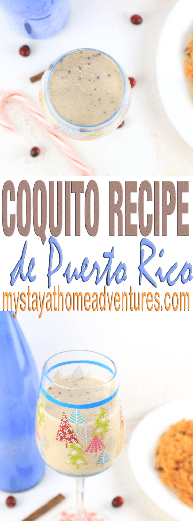 Here's one of my favorite Coquito Recipe with no eggs full of richness and flavor straight from Puerto Rico.