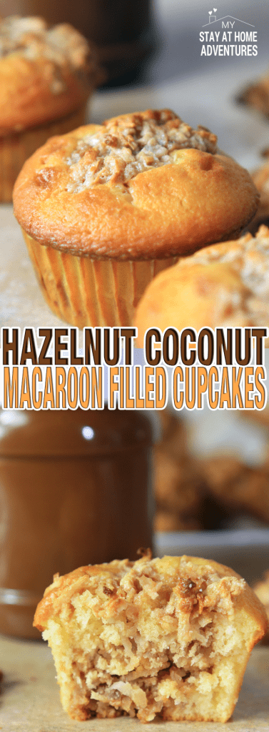 Calling all coconut macaroon lovers out there! What happens when you add hazelnut, coconut macaroons and cupcakes? Hazelnut Coconut Macaroon Cupcakes!
