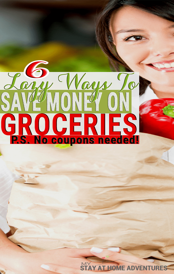 Sometimes you don't have to work too hard to save money on your groceries. Learn 6 lazy ways to save on groceries that will help you increase your savings.