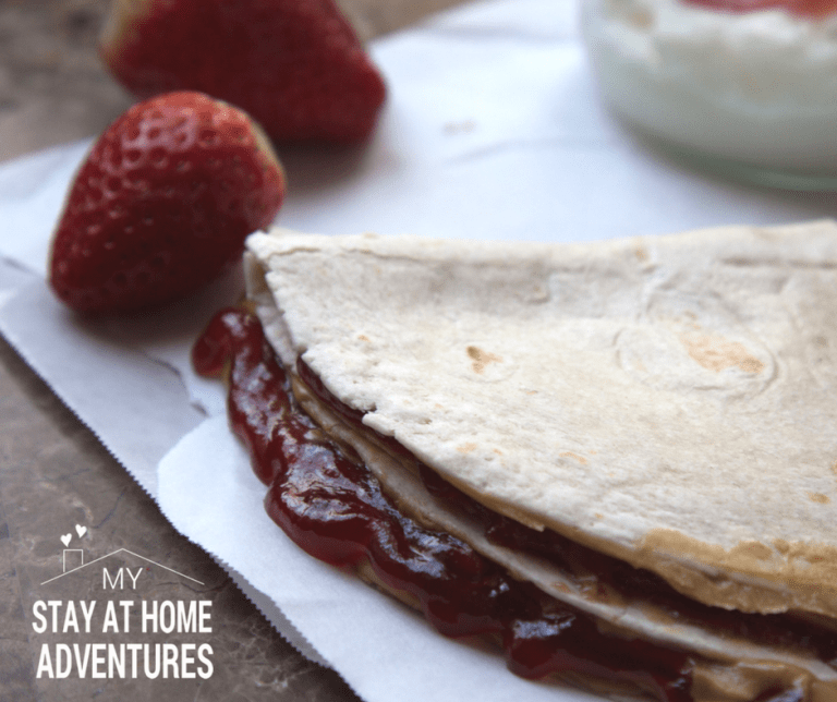 Easy Peanut Butter and Jelly Quesadilla in Five Minutes