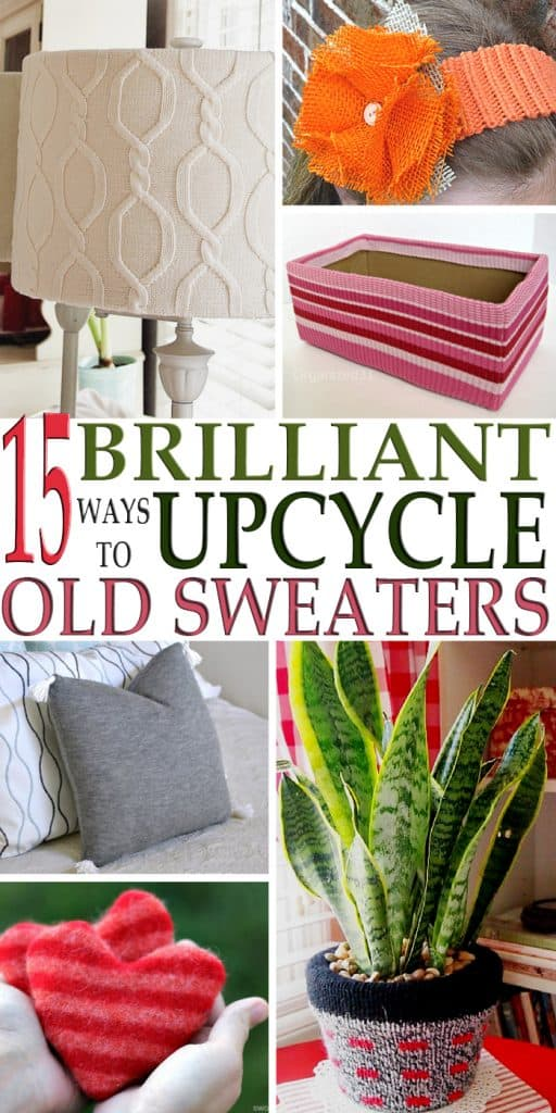 Who doesn't have a closet full of old sweaters? Here are 15 brilliant ways to upcycle old sweaters that will have you talking!