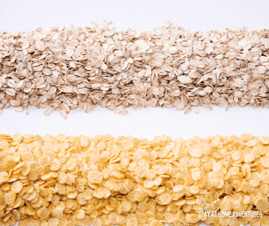 Oats is a great food pantry staple to stock up on that is budget friendly and used in many recipes.