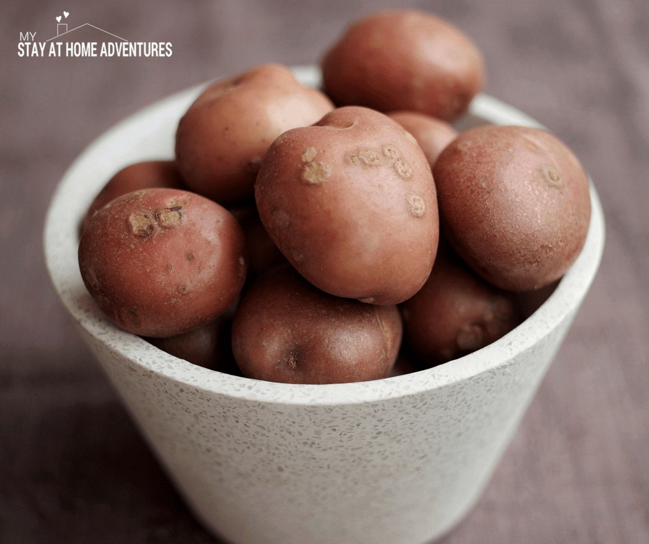 Potatoes are a great food pantry staple that is budget friendly.