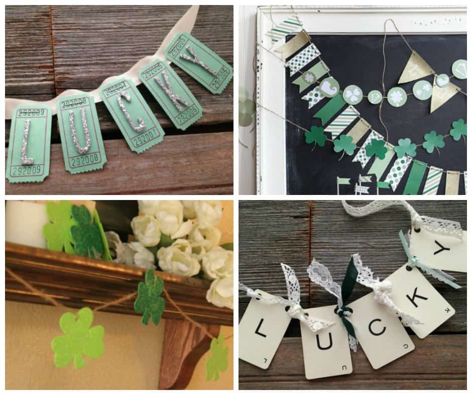 DIY St. Patrick's Day Garlands