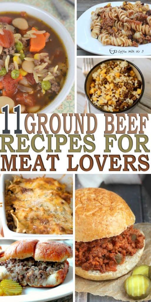 Calling all ground beef lovers out there! Check out these 11 easy ground beef recipes that will satisfy the meat lover in you.