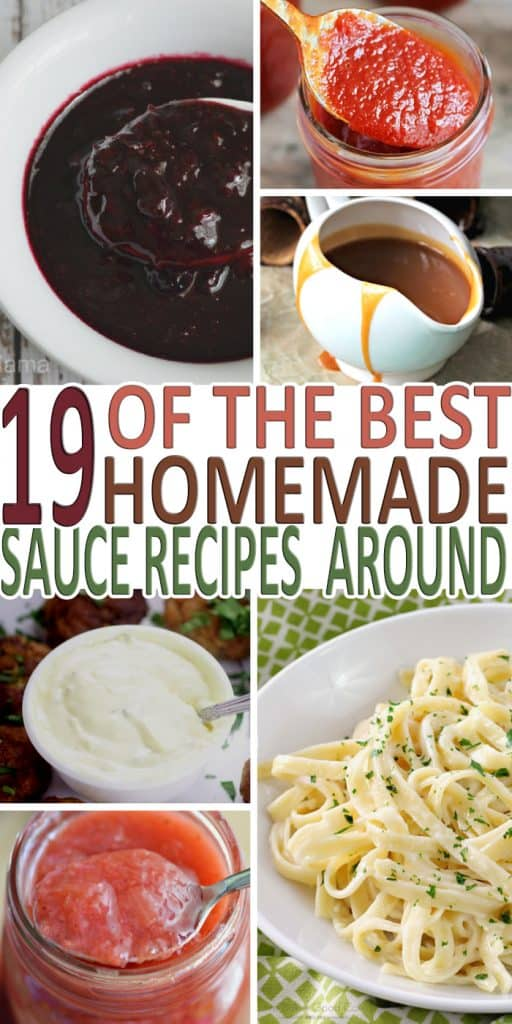 I found out how great homemade sauce can be and I gathered a few of my favorite homemade sauce recipes to share with you all. Here are 19 homemade recipes!