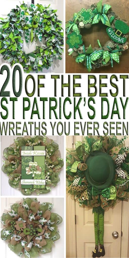 Looking for some St Patrick's Day wreath ideas or inspirations? Check out 20 Of The Best St. Patrick's Day Wreath Ideas & Inspirations from around the web.