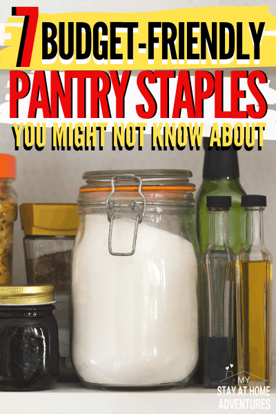 Food pantry staples on a budget