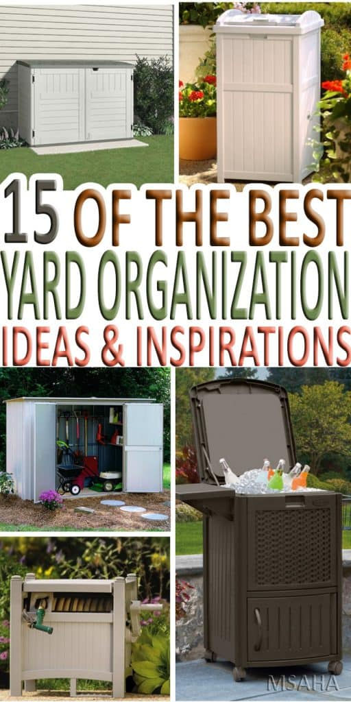 This spring let's look at yard organization ideas to help take care of the exterior of our home. Get inspired with this ideas and start enjoying our yard.