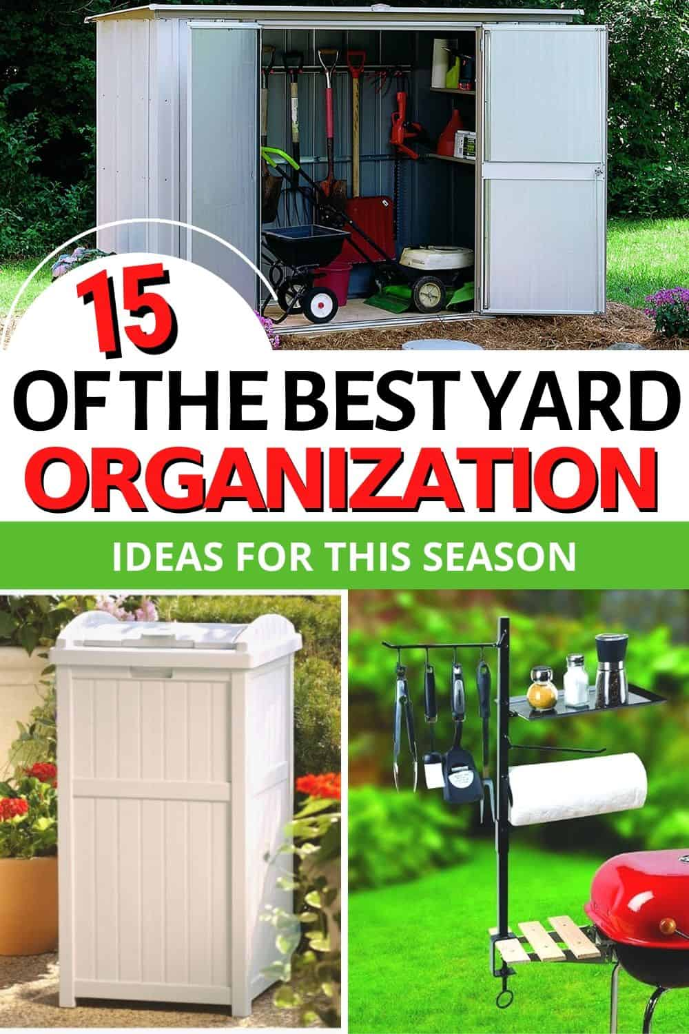 This spring, let's look at yard organization ideas to help take care of the exterior of our home. Get inspired by these ideas and start enjoying our yard. via @mystayathome