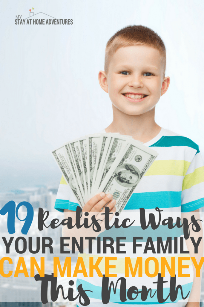 The entire family can make extra money and they can make over $500 in one month by doing this side hustles! Check these ideas and resources out.