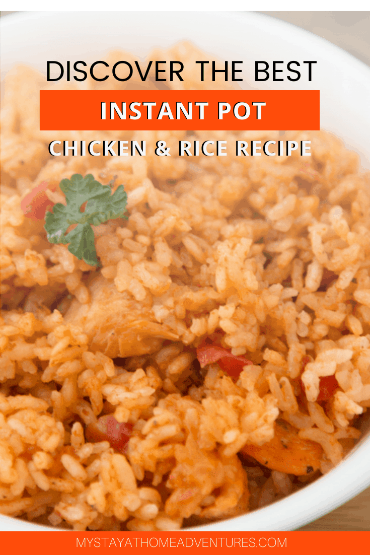 The Best Puerto Rican Instant Pot Chicken and Rice Recipe via @mystayathome