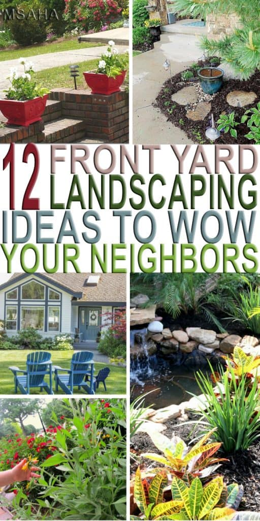 Does your front yard need a makeover? Need a little better curb appeal? Check out these 12 beautiful front yard landscaping ideas to help you out!