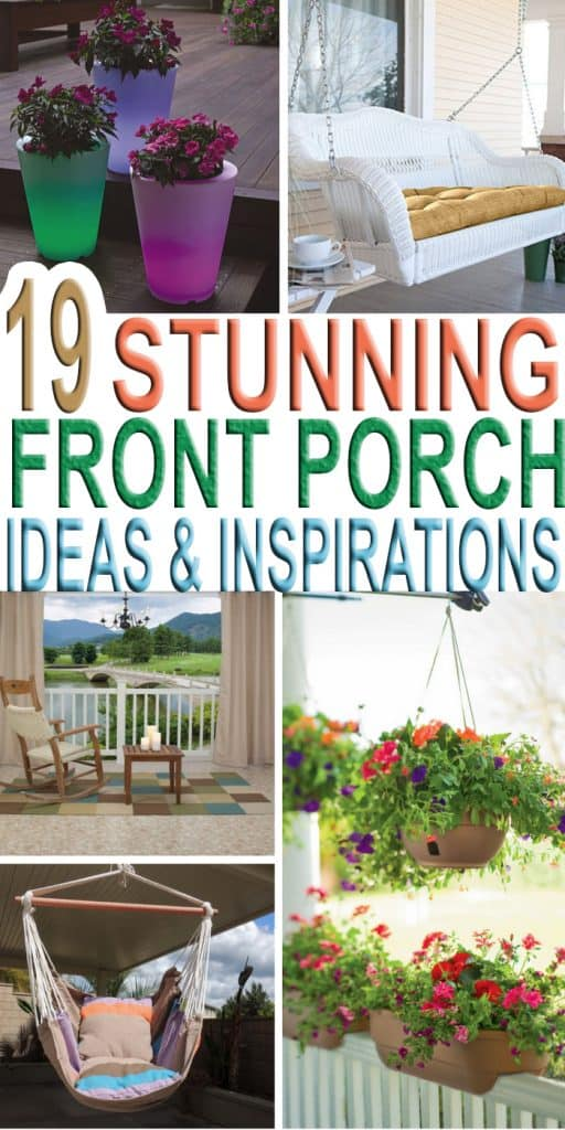 Weather is getting nice and these 19 stunning front porch ideas and inspirations are what you are looking for to give your porch that fabulous look! These are everyday front porch decorating ideas that are simple and unique and don't require much work! #everyday #frontporch #decorating #ideas #simple #Decor #Spring #Summer