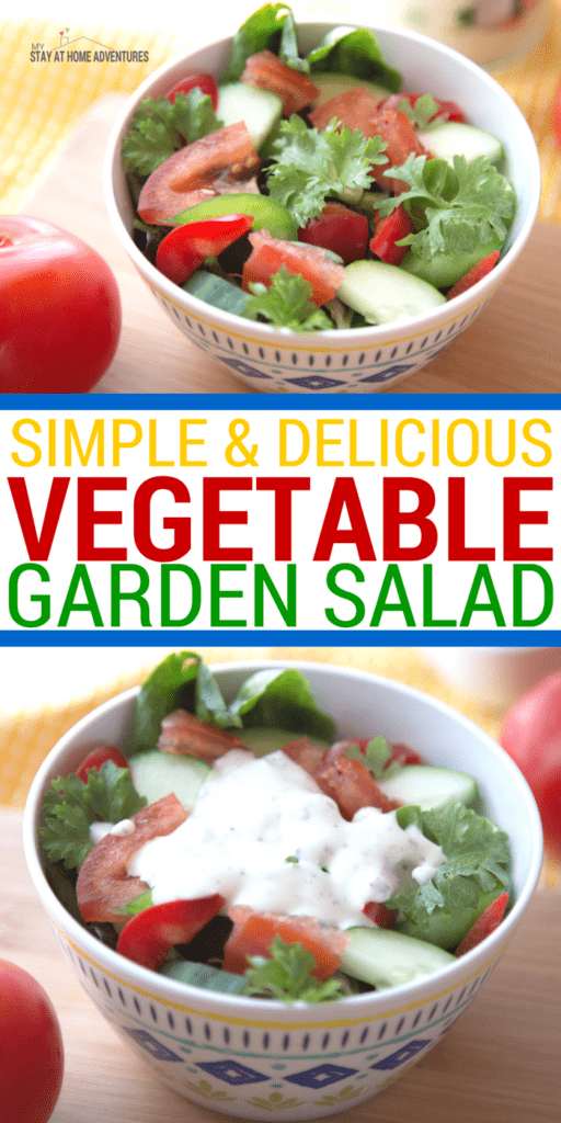 If you are a beginner gardener and not sure what to do with your veggies and herbs, check out this simple and delicious vegetable garden salad. #SeeTheLite #Ad