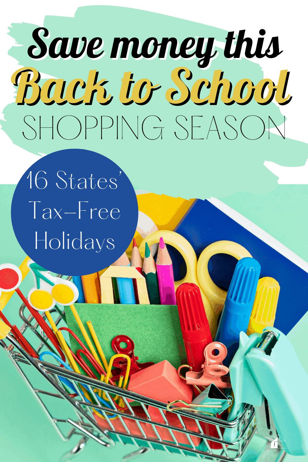 Check out 6 painless Money Saving Tips For Back To School and a list of 2021 Sales Tax Free holiday to help you save even more money! via @mystayathome