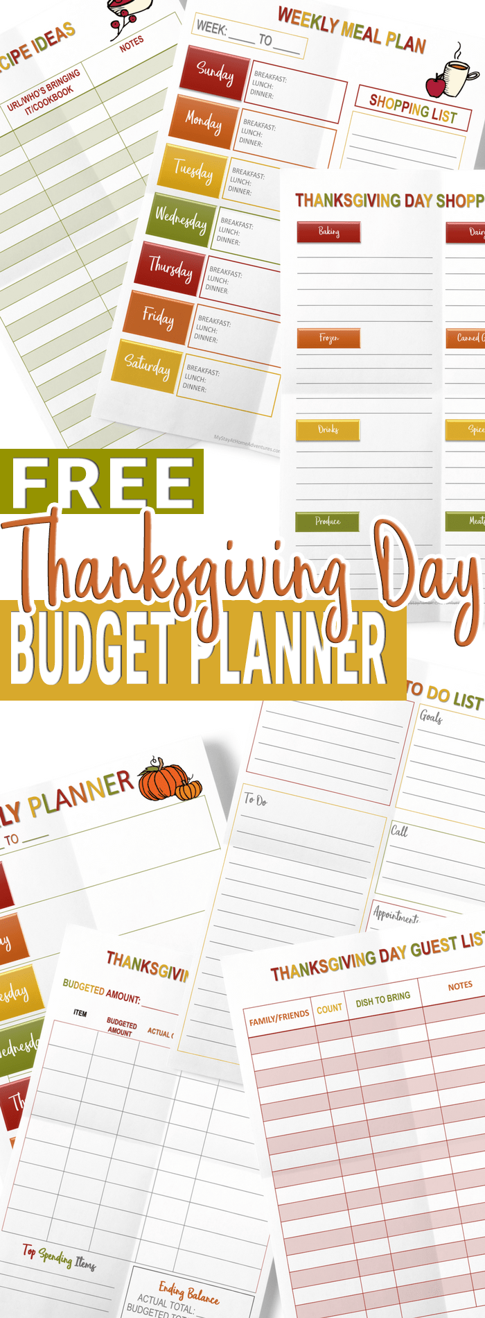 Grab This 2017 Thanksgiving Day Budget Planner Today!
