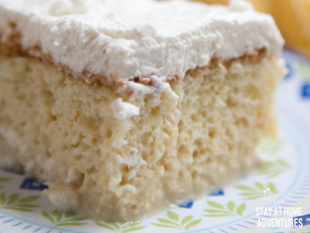 Puerto Rican Cake made with Media Crema