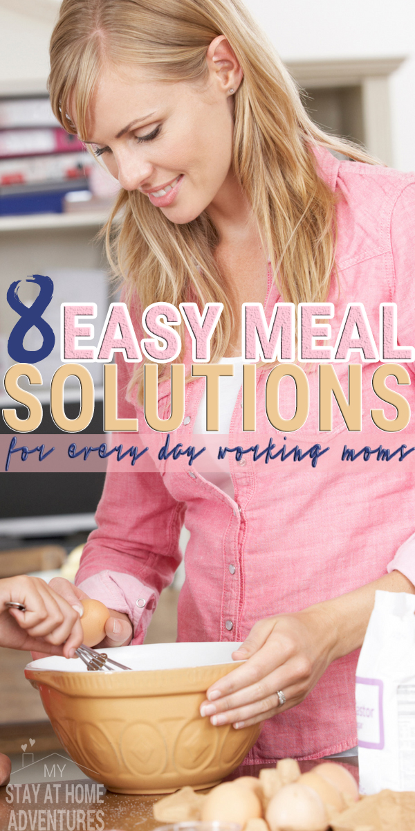 Find great easy meal solutions for working moms that do work! Learn the tricks and tips and start stressing less during dinner time. Start today!