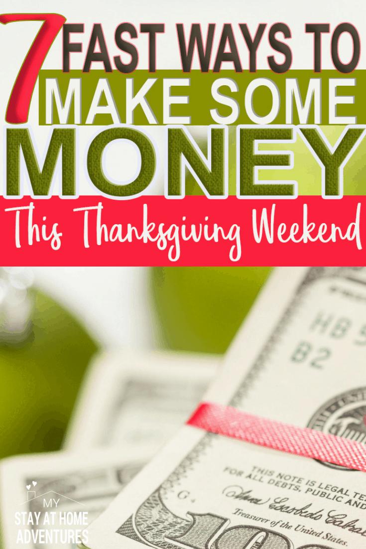 7 Ways You Can Make Make Some Money Thanksgiving Weekend via @mystayathome