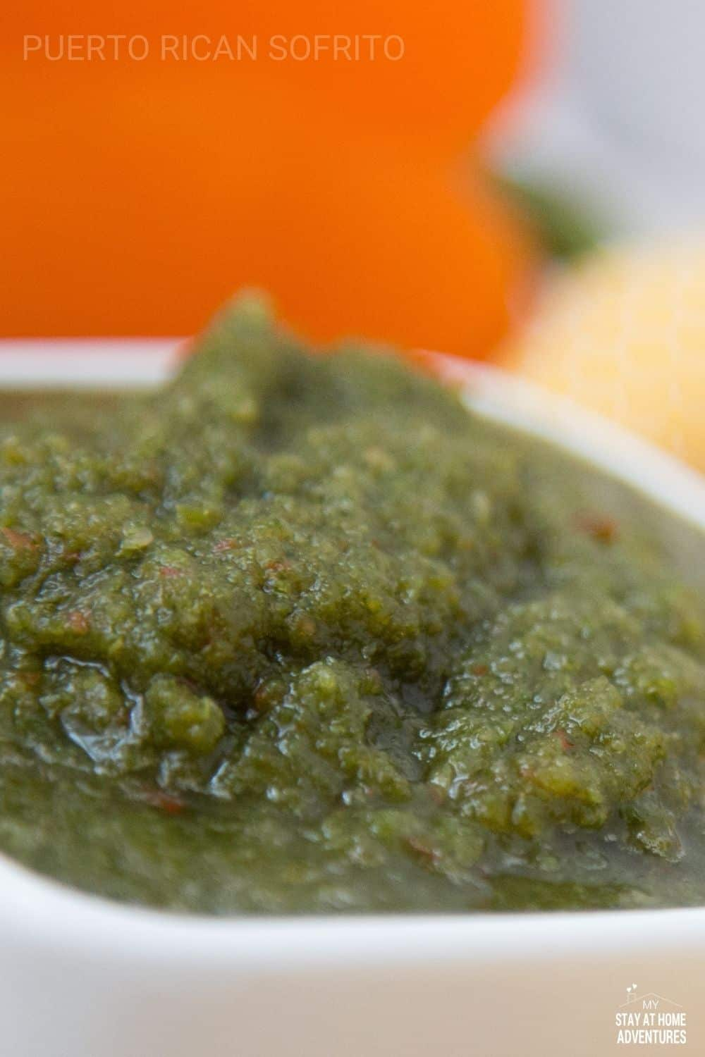 Learn what Puerto Rican sofrito is and what makes it different from the rest. Learn how to find culantro anywhere in the US and make this recipe at home. #sofrito #puertoricansofrito #sofritorecipe via @mystayathome