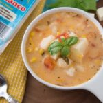 Sopas de Papas y Tomate/Tomato and Potato Soup With Tropical Queso Blanco