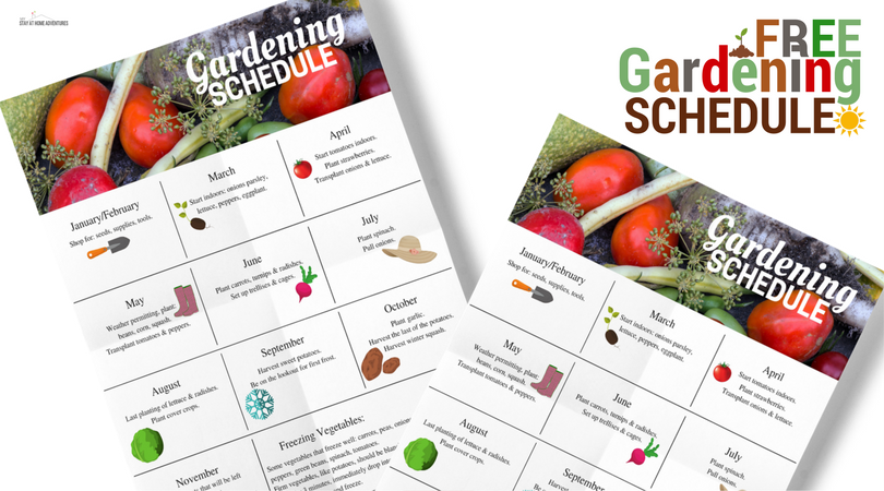 Click to download this free gardening schedule