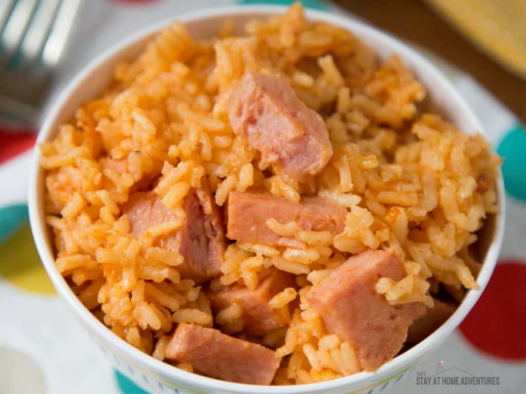 Learn a quick and delicious Instant Pot Spanish Rice With Spam or Arroz con Jamonilla recipe that your family is going to love.
