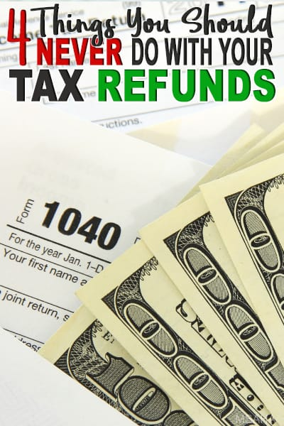 Federal tax refund season is here! If you are getting a nice chunk of federal tax refund and to help you control it we have 4 things you shouldn't.