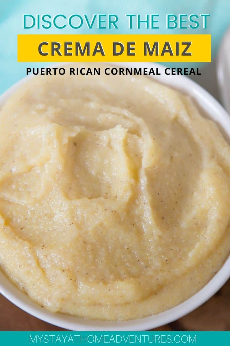 When it comes to Puerto Rican breakfast, Crema de Maiz is one of my favorite childhood cornmeal cereal recipes. Learn how you can make this delicious recipe. #puertoricanfood #puertoricanrecipe #puertoricanbreakfast via @mystayathome