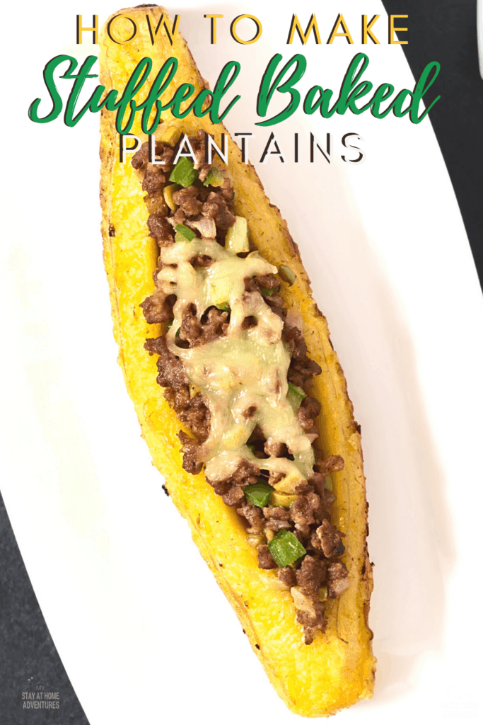 plated stuffed plantain