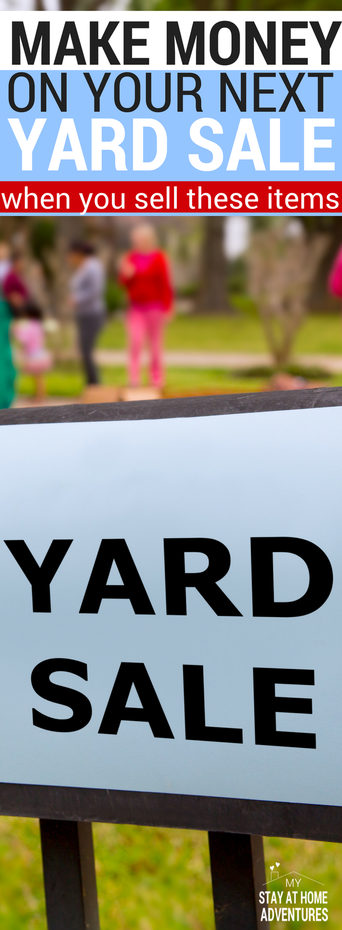 13 things that sell well at yard sales and will make you for Sale things from home
