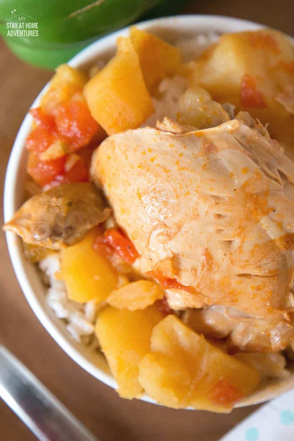 Learn how to create this delicious pollo guisado recipe using your Instant Pot! Puerto Rican chicken stew is so easy to make and taste just like home. via @mystayathome
