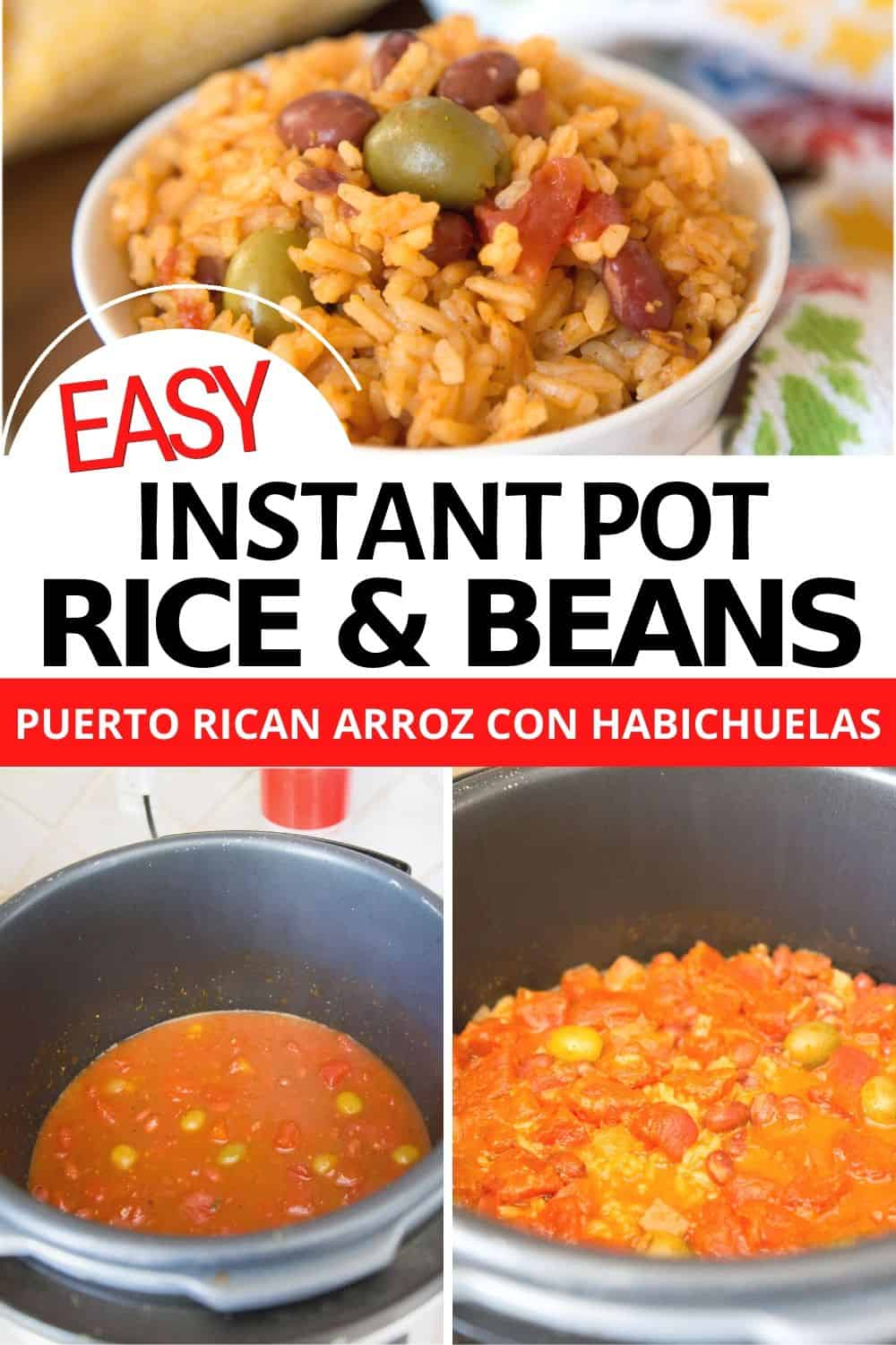 Learn to create this popular Puerto Rican Instant Pot Arroz Con Habichuelas or Puerto RIcan Rice and beans. Easy to make and so delicious. via @mystayathome
