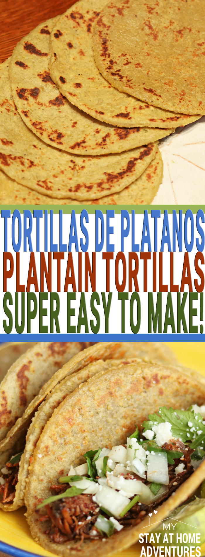 You have to try this tortillas de platanos or Plantain tortillas that are so easy to make you will be making them all the time! All you need is 3 ingredients and in no time you will have this affordable riped plantain tortillas!