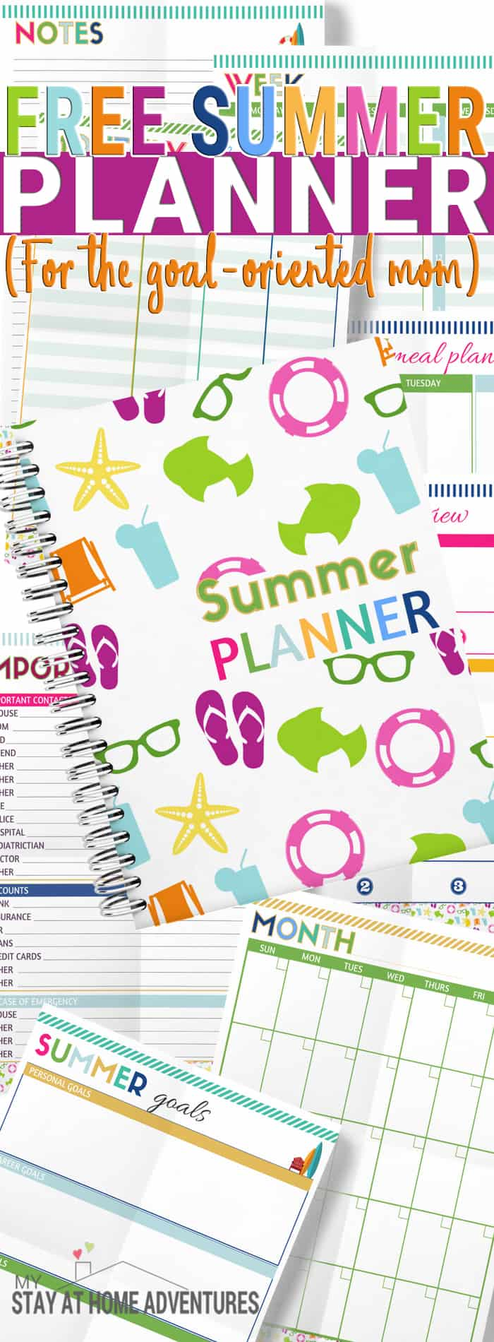 Hurry and download this free summer planner to help your summer run smoothly. From meal planning to weekly goals run your summer days without any stress.