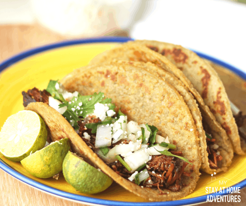 Delicious Instant Pot Puerto Rican Beef Barbacoa with Plantain Tortillas