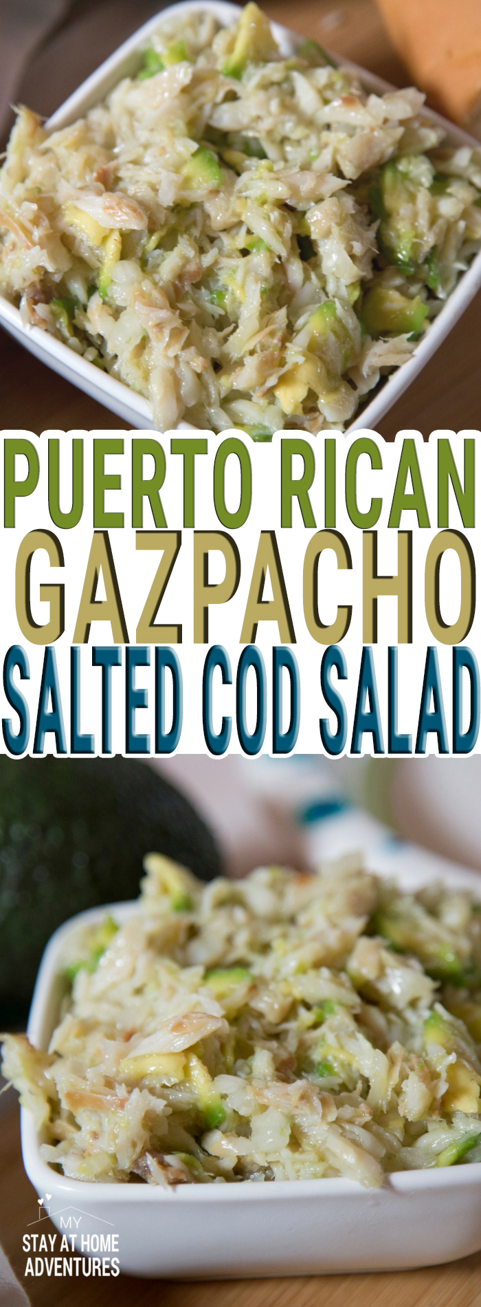 You are going to love this simple, and affordable Puerto Rican Gazpacho or Puerto Rican Cod salad. Simple to make and so delicious your family is going to love it.