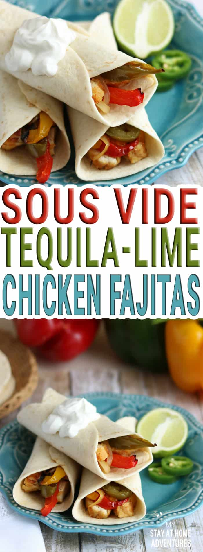 You have to try this Sous Vide Tequila-Lime Chicken Fajitas Recipe and you have to do it today. Learn how to create the perfect tequila-lime chicken fajitas using the Sous Vide method anyone can make. Wow your family with this chicken fajitas today