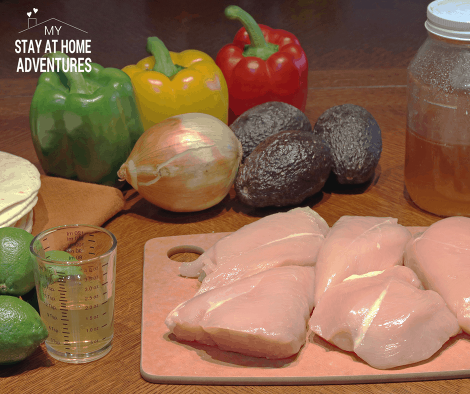 Sous Vide Tequila-Lime Chicken Breast Fajitas recipe