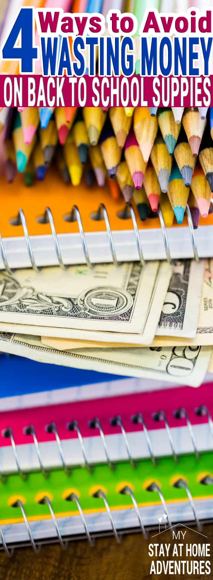 Back to school season means parents can avoid wasting money on back to school supplies when they follow these four tips. Learn how budget loving parents avoid overspending on school supplies the smart ways with these four tips.