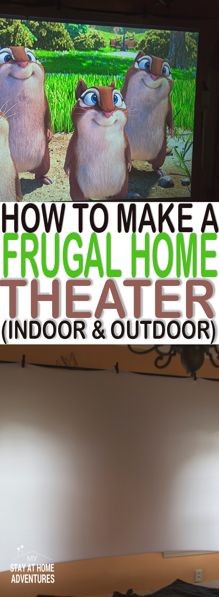 Learn how you can create your own good quality frugal home theater. How we kept cost down and made a fun activity our family will enjoy.