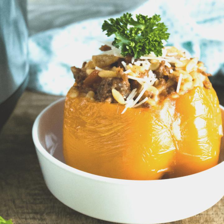 Instant Pot Orzo & Italian Sausage Stuffed Peppers Recipe