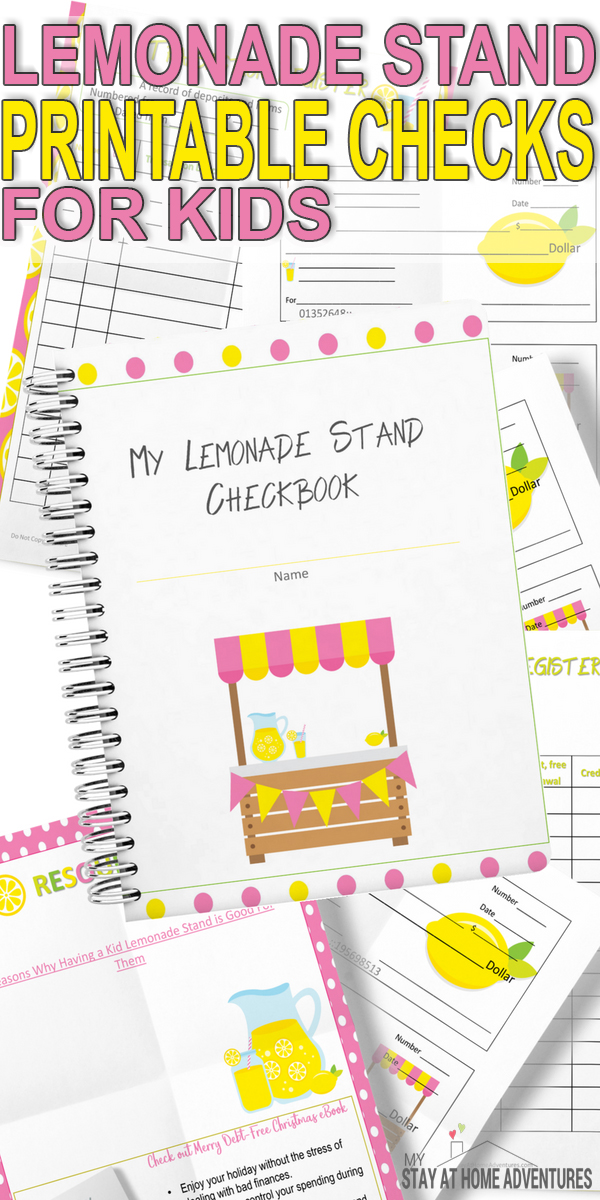 Hurry and download these free printable checks for kids. These lemonada stand checks are for kids who wants to play with check.