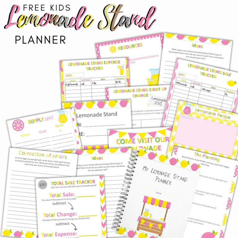 Free Kids Lemonade Stand Planner