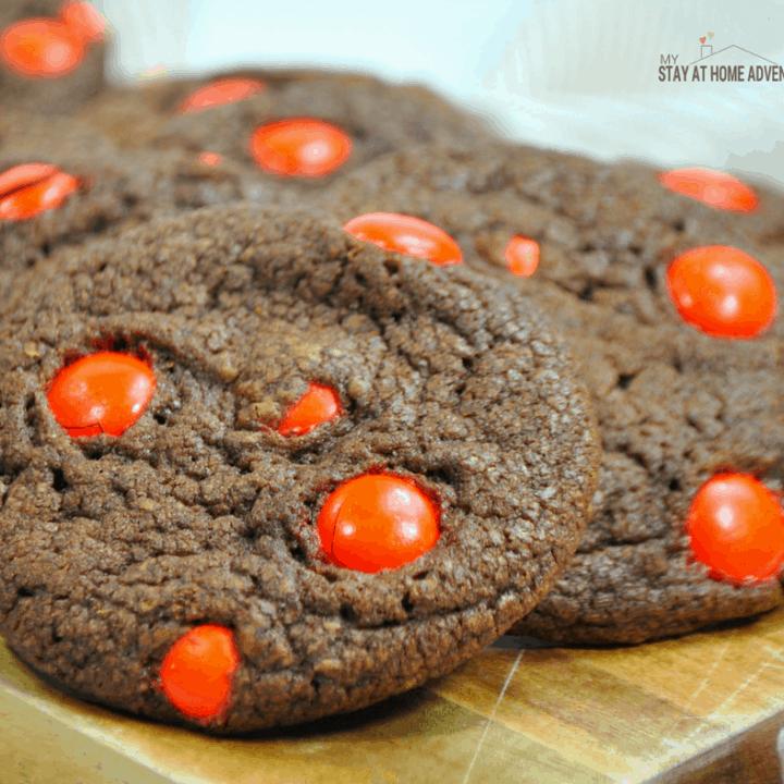 Delicious Nutella M&M Cookies