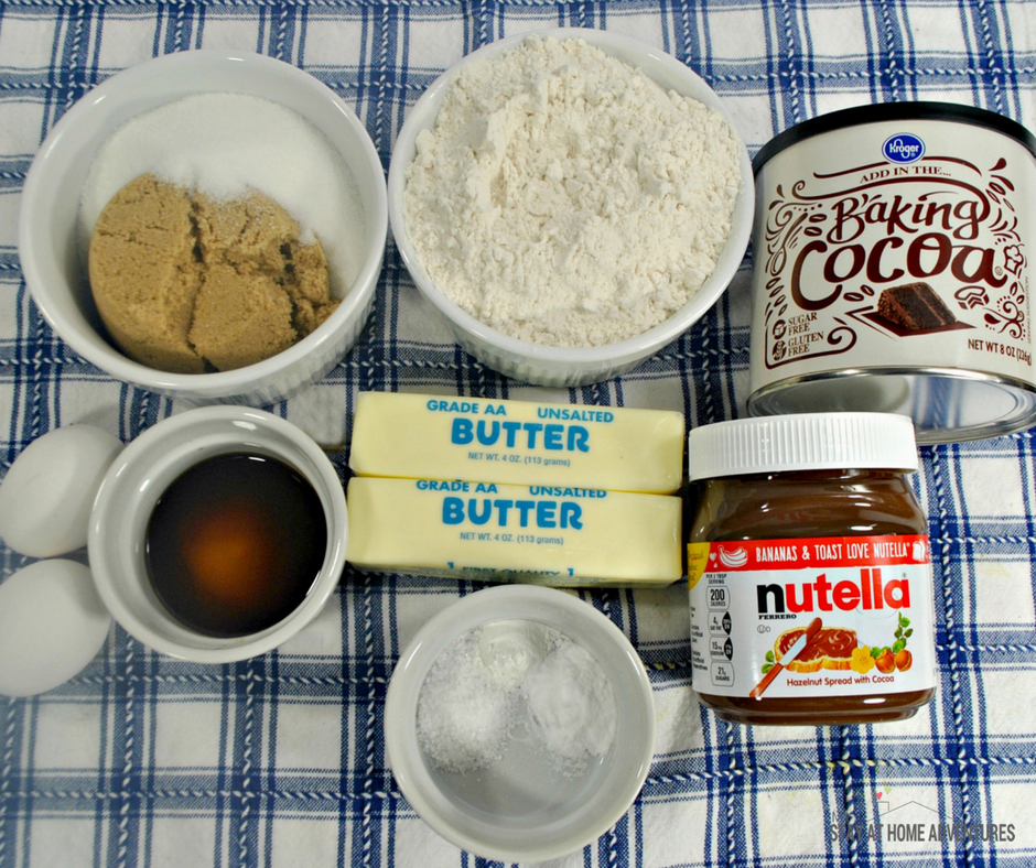 Nutella Cookies - Ingredients